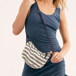 NWOT Free People Zamora Embroidered Crossbody New
